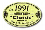 Distressed Aged Established 1991 Aged To Perfection Oval Design For Classic Car External Vinyl Car Sticker 120x80mm